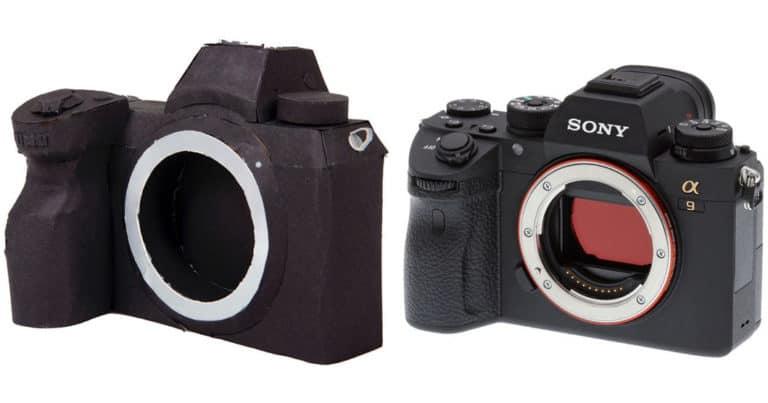 Así luce la próxima mirrorless de Nikon (en cartón) comparada con la Sony A9