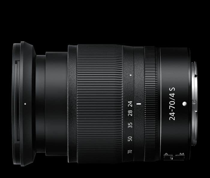Nikkor Z 24-70mm F4 S lado