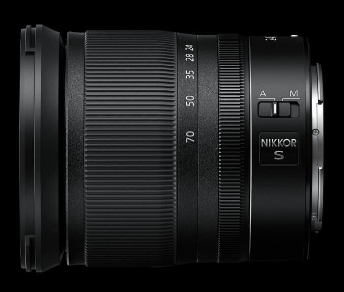 Nikkor Z 24-70mm F4 S lado2