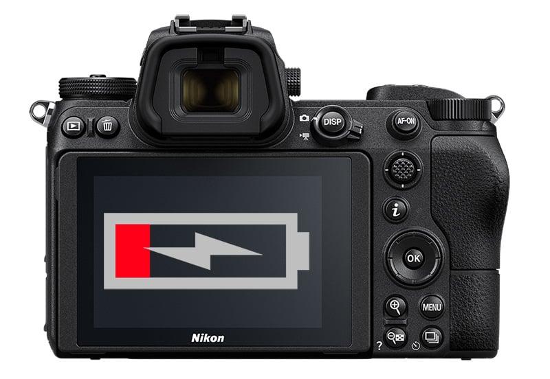 Batería de la Nikon Z6.