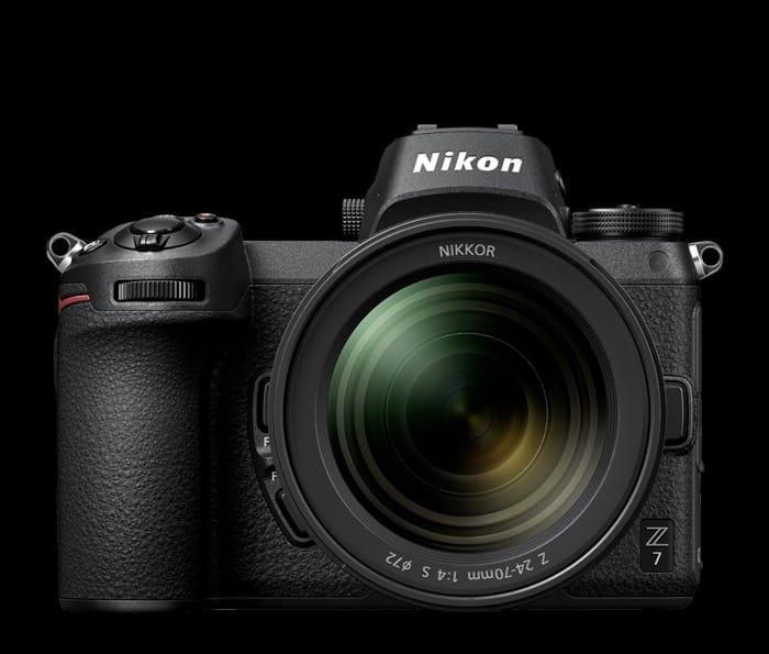 Nikon Z 7 frente.