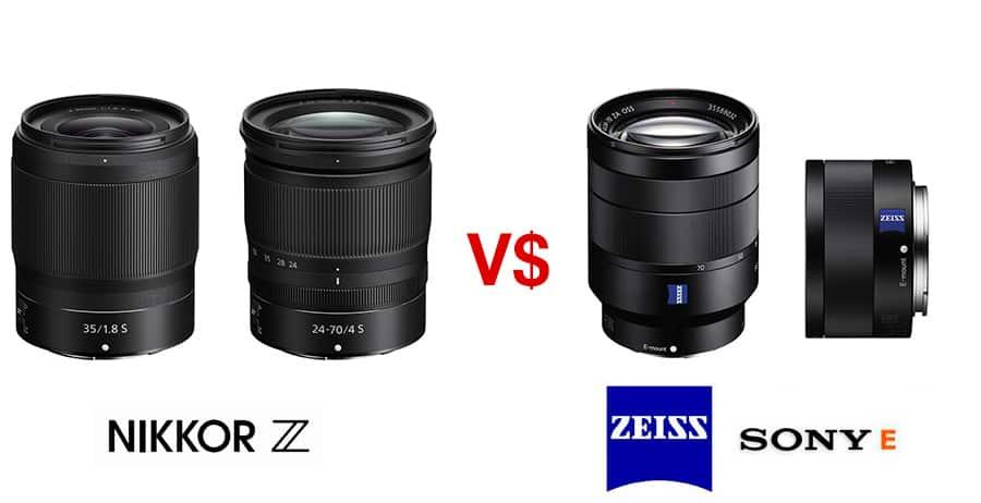 Precios Nikkor Z vs precios Sony Alpha.