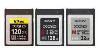 Tarjetas XQD para las Nikon Z6 y Z7.