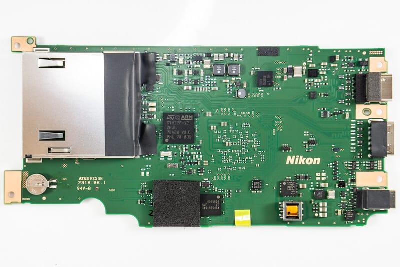 La placa madre de la Nikon Z7.