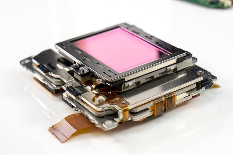 Sensor de la Nikon Z7 sobre el estabilizador interno.